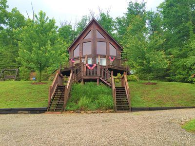 Photo for Classic A-Frame in Nolin Lake Estates on Private Wooded Lot.