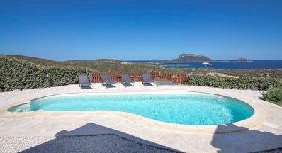 Photo for Exclusive Villa with Air Conditioning, Pool, Sea View & Terrace; Garage Available