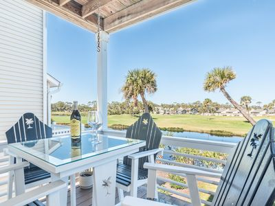 Photo for Rates reduced 10% in August | Lovely Fripp Island home with golf course views & expansive deck