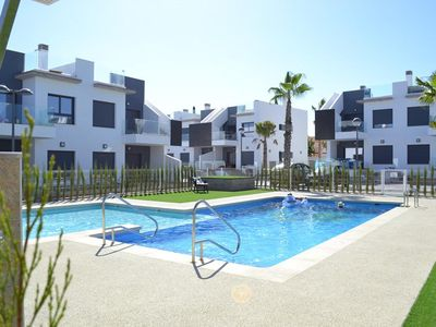 Photo for Large and nice apartment  with communal pool in Pilar de la Horadada, on the Costa Blanca, Spain for 4 persons