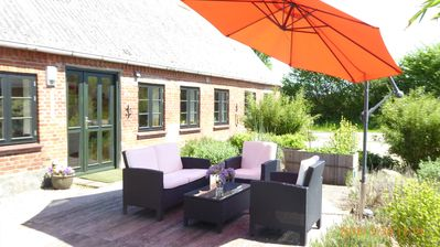 Photo for New apartment on idyllic Resthof - secluded location. Near Schlei / Baltic Sea