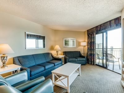 Photo for NEW LISTING! Bright condo w/ balcony view, shared pool/hot tub & beach access!