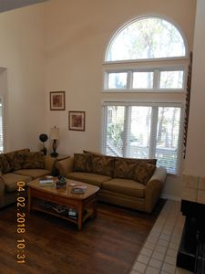 Living Room with window to lagoon