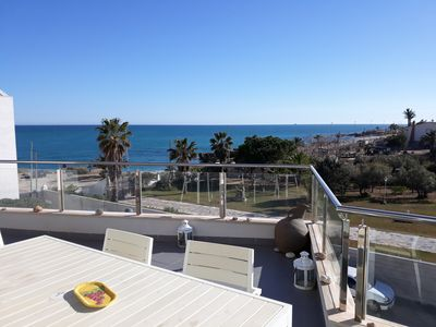 Photo for APARTMENT WITH SEA VIEWS. COMMUNAL SWIMMING POOL   . AVAILABLE HOLY WEEK