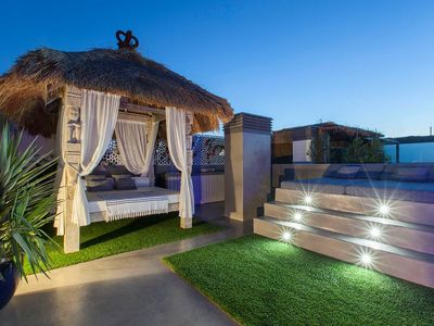 Photo for Penthouse in Ibiza with access to the beach and private jacuzzi on the terrace