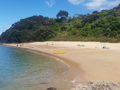Photo for Quintessential Kiwi bach with a secluded beach