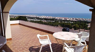 Photo for Near the sea near the beach Penthouse 3 bedrooms 2 terraces sea view Wifi