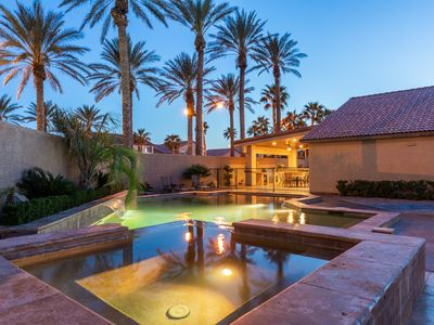Photo for 30 days Minimum stay 2800 sq/ft Luxury Home 8 Miles to the 'STRIP' Pool & Casita