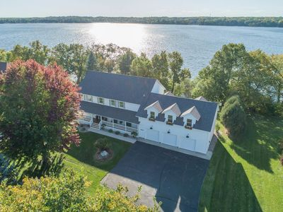 Photo for Gorgeous newly listed 5 bedroom on Lake Geneva with basement movie theater!