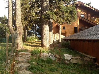 Photo for Scandinavian cottage in the center of Font Romeu, near the lifts, trails