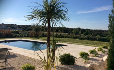 Photo for modern villa with pool between Uzes and the Pont du Gard