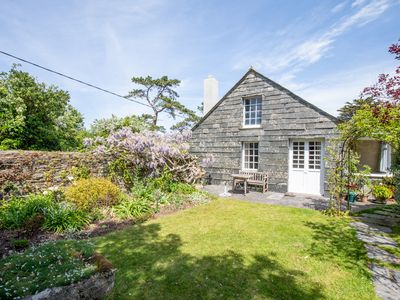 Photo for Holiday Cottage, sleeps 7 next to creek leading to River Camel, nr Padstow