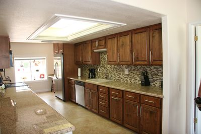 New kitchen  granite counters and stainless steel appliances