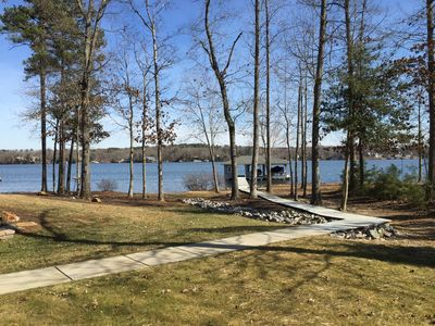 Photo for Main Lake, Deep Water, Sandy Beach & Boat lift!