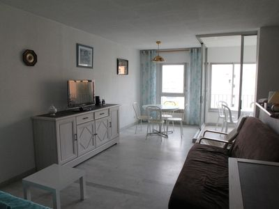 Photo for Cap D'Agde Pleasant T2 45 M2, Beach 8 Mn Feet, terrace, garage 280 € to 560 €