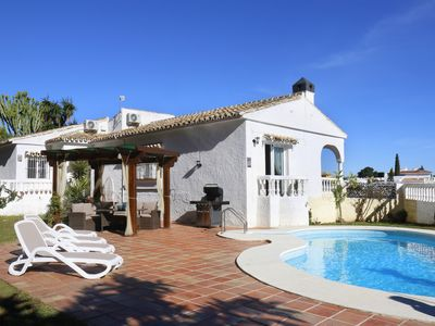 Photo for Luxurious, peaceful and well equipped villa. Total poolside & garden privacy.