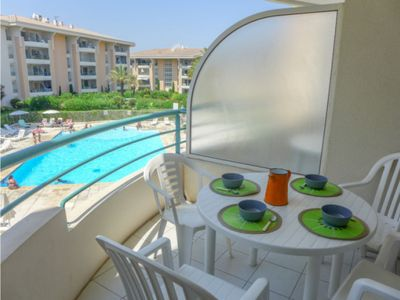Photo for STUDIO 2 adults / 2 children / PARKING / POOL / PORT FREJUS / Near Sea and Base Natur