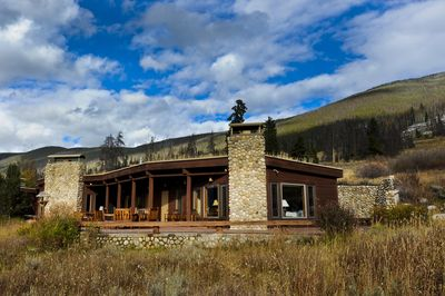 Elk House has a sod roof and a magical feel, lots of natural light and views!