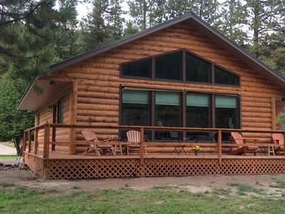 Photo for Riverside Cabin adjacent to Kootenai National Forest with Mountain View