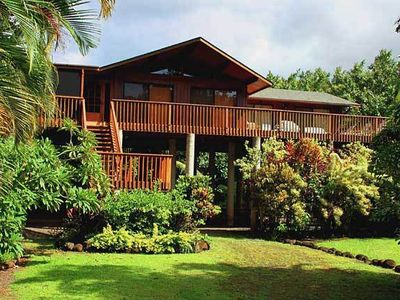 Spacious Home on 3/4 Acre, Peaceful Setting, Lush Tropical North Shore of Kauai