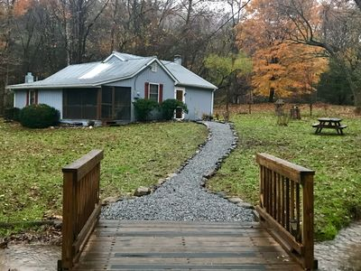 Photo for Creek front property!  Spicewood Cabin near Wintergreen and Crabtree Falls