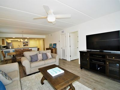 Photo for Newly remodeled and beautifully furnished Condo with private balcony overlooking the beach!