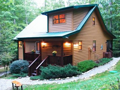 Photo for CRICKET CREEK CABIN - Secluded 4.7 Ac of Mountain Forest  Get Away - Joins USFS