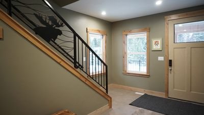 A large entry welcomes you and provides plenty of room for coats, shoes, etc.