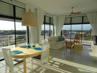 Photo for Elegant 2-BR Ocean View Apt. Pool, Jacuzzi, Just Walk to Beautiful Sandy Beach