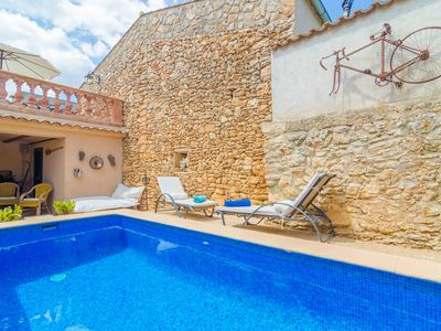 Photo for CA NA MISSA - Apartment with private pool in Llubí.