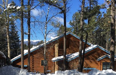 Photo for Beautiful Mountain Log Home Minutes From The Slopes.