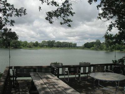 Photo for Gilead Lakefront Cottage with Large Deck and Beautiful View