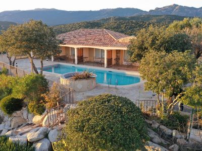 Photo for Air-conditioned duplex with sea view and heated pool in Porto-Vecchio.