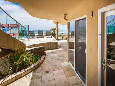 Photo for Ground Floor,  Ocean Front Beach Condo With Hot Tub