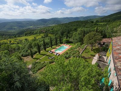 Photo for Luxury Peaceful Villa With Vine Covered Pergola Enjoying Panoramic Views Of Niccone Valley, Tuscany