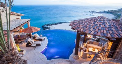 Outdoor Pool Terrace - Outdoor Pool Terrace: Enchanting 270-degree ocean views are embraced in the private courtyard—the show-stopping feature of this Casita.