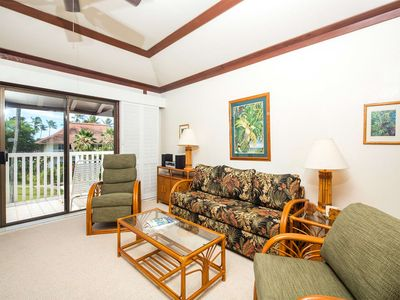 Photo for Poipu Suite w/Gourmet Kitchen, Tropical Vibe, WiFi, Lanai–Kiahuna Plantation #2143