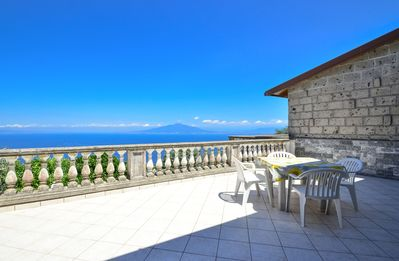 Photo for Wonderful VILLA LUISA in the hills of Sorrento with sea view and swimming pool