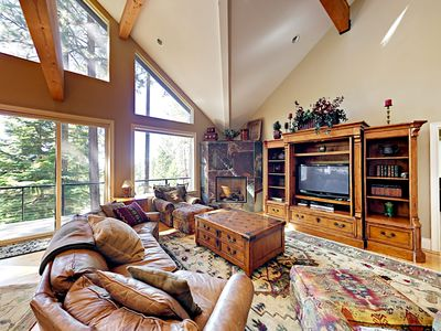Photo for 4BR Luxurious Tahoe Retreat + Private Hot Tub, South Lake Tahoe, Sleeps 12