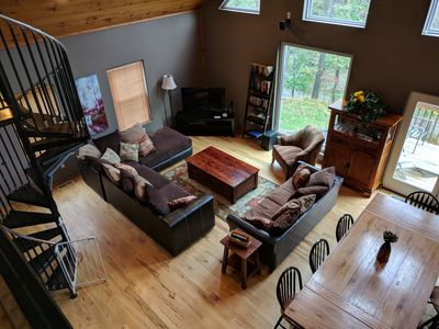 Photo for Child-friendly luxurious lodge one block from the lake
