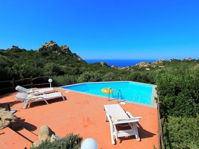 Photo for Villa Mela, private pool, climate, sea view, in a natural paradise