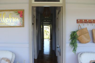 Front door entry is welcoming and breezy.