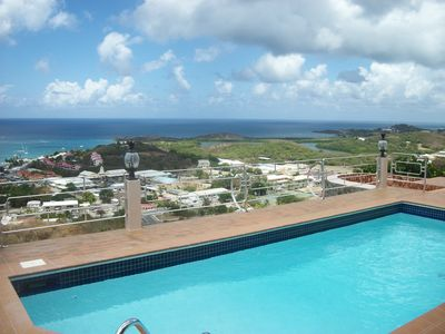 Photo for Luxury fully air conditioned Villa / Million Dollar View of Sea w/heated pool