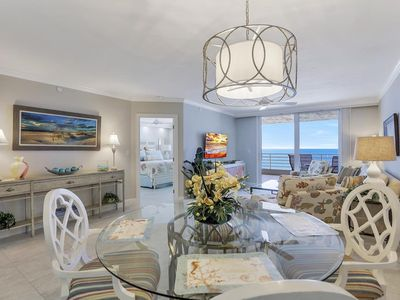 This spacious two bedroom condo sits seven floors above the white sandy beaches of Marco Island. ...