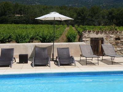 Photo for Big house in the Luberon near Lourmarin with pool
