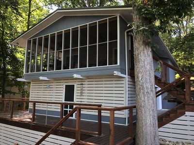 Driftwood Cottage has three  porch levels