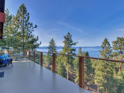 Photo for Stunning View of Lake Tahoe, Zephyr Cove Luxury, amazing chefs kitchen(ZC634)