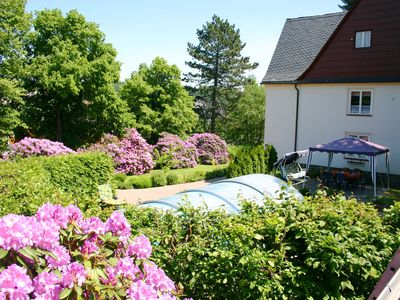 Photo for Holiday homes for two people, with a swimming pool, in the Ore Mountains.