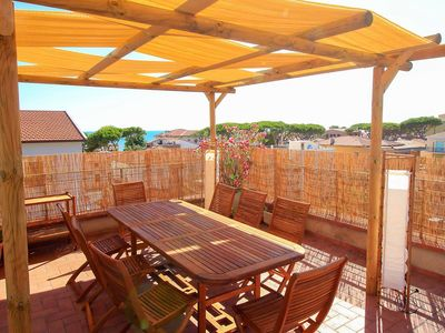 Photo for Roof terrace - sea view - 100 m from the sea