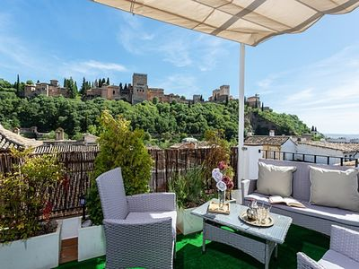 Photo for Amazing 3Bd Apartm in Albaicin with a Private terrace and views to the Alhambra. Mirador de la Victoria